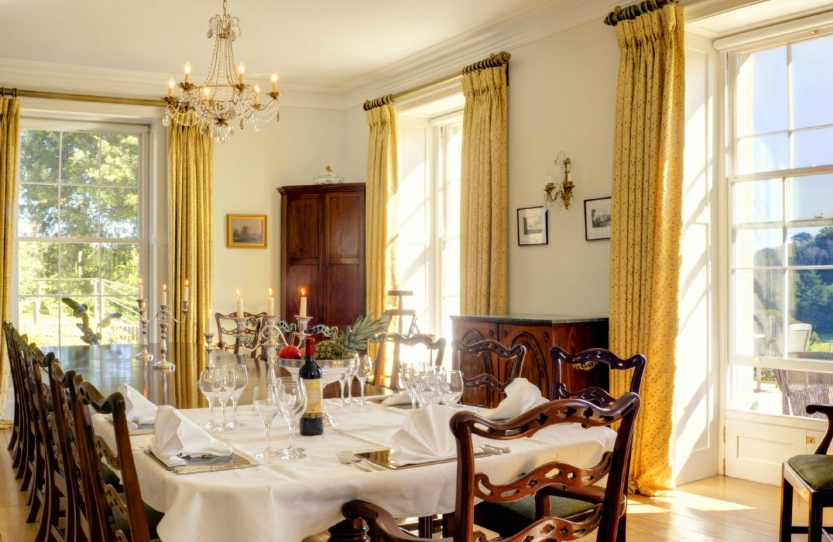 Ground Floor: Stunning dining room accommodating up to 18 guests
