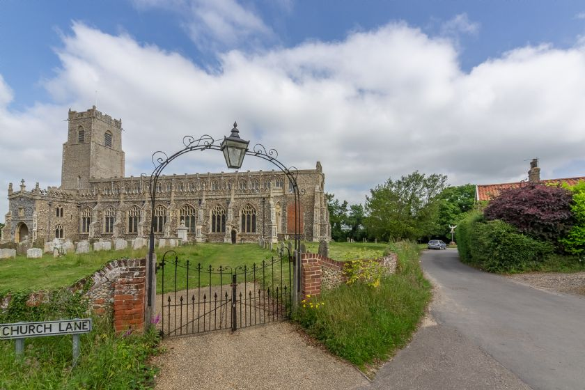 Blythburgh Church with Chantry Cottage