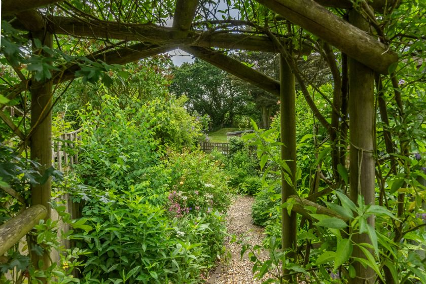 Footpath to Westleton Common from the rear of the garden