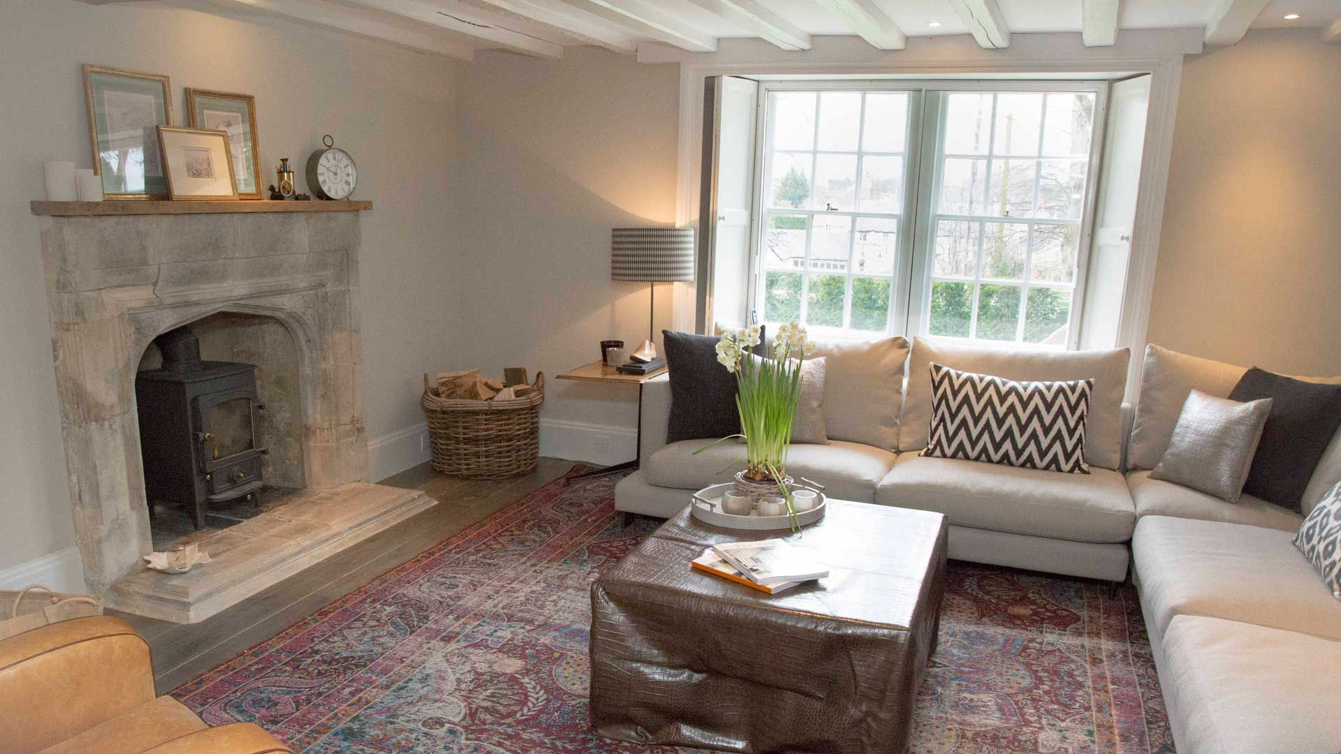Coldstream House Lounge and Fire Place - StayCotswold
