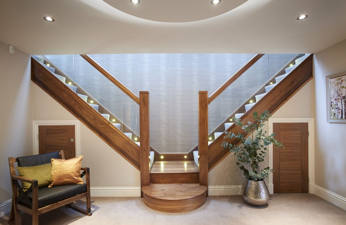 Ground floor: Large spacious entrance hallway with dual feature staircase