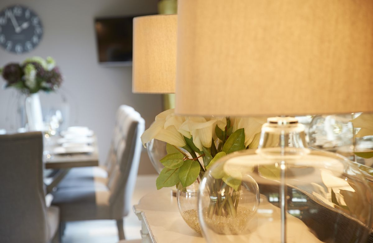 First floor: Well-appointed kitchen with high end appliances, breakfast bar and dining table