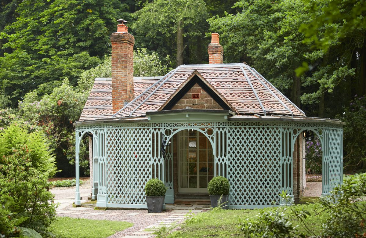 Pink Cottage is a romantic retreat sleeping two on the Weston Park Estate