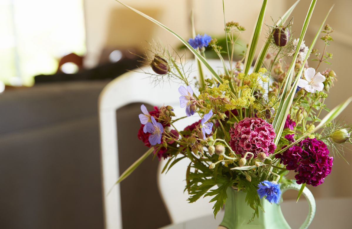 Beautiful flowers hand picked from the garden.
