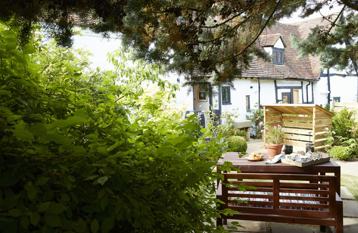 Relax in the beautiful gardens.