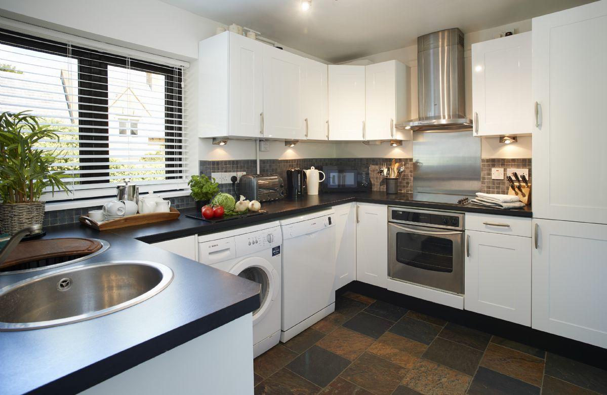 Ground floor: Modern fully fitted kitchen.