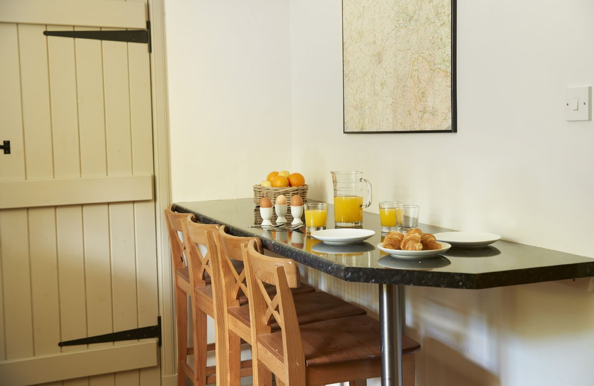 Ground floor:  Enjoy breakfast before heading out to explore the wonderful countryside.