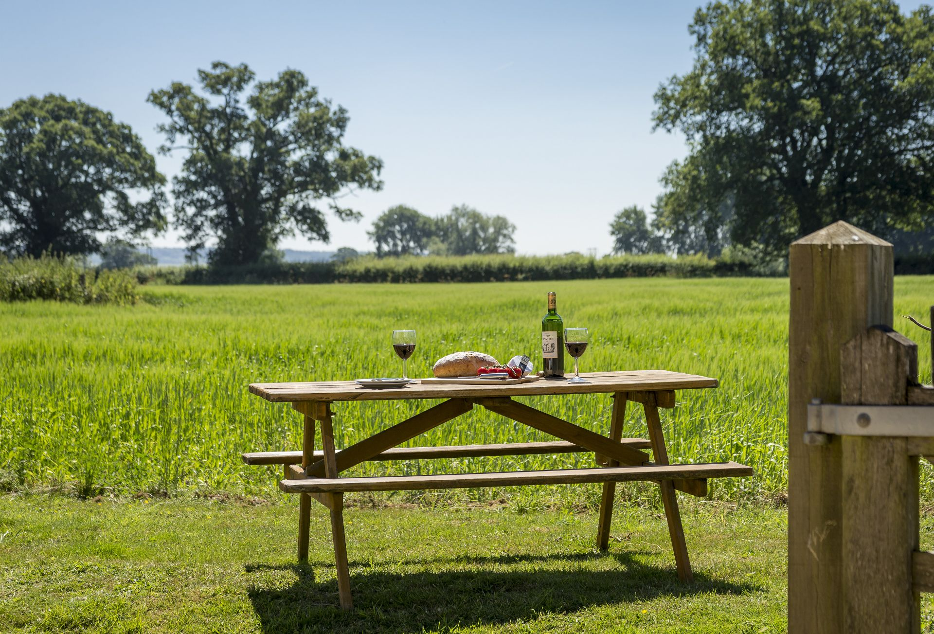Outside:  Picnic bench to sit and soak up the view