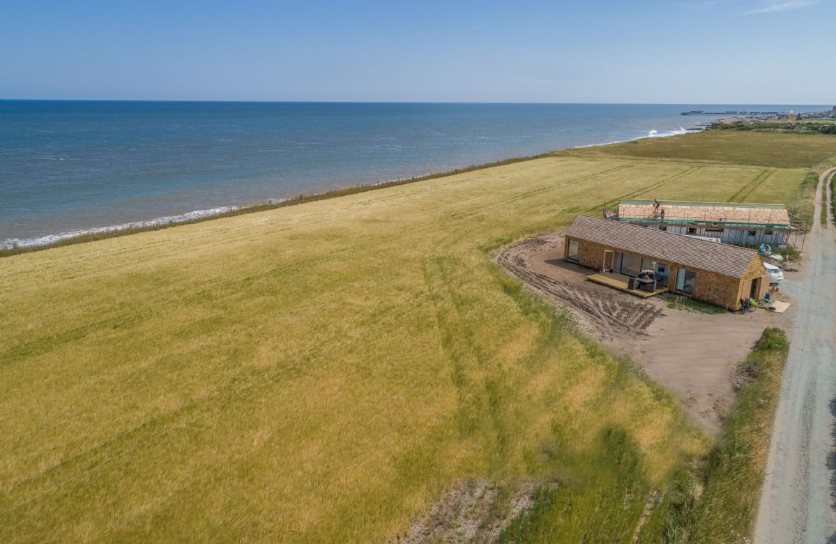 One of Suffolk's most peaceful locations with only a low-lying cliff-edge and a near-private beach separating you from the sea