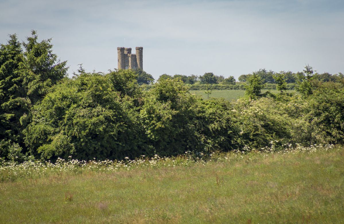 Views of Broadway Tower, one of the most famous of the Cotswold's landmarks