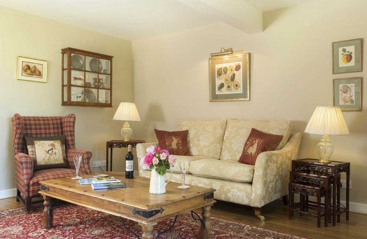 Ground floor: Sitting room with an elegant and lovely cosy feel for a relaxing retreat