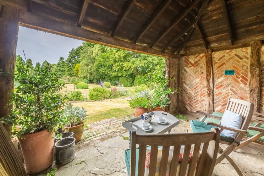 Guests have exclusive access to the medieval-style summer house