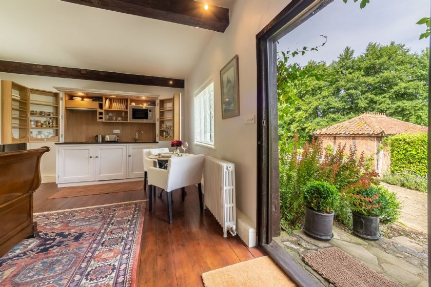 The open-plan studio has been converted and furnished to the very highest standards