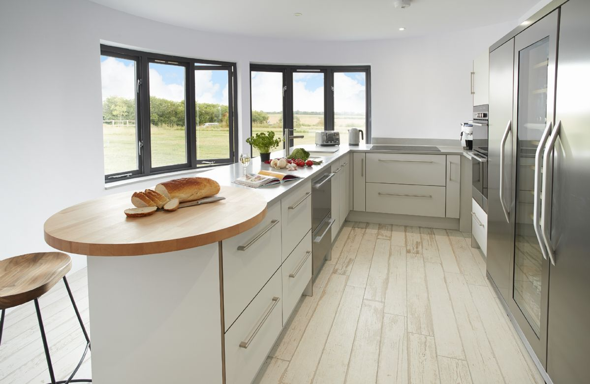 First floor:  Contemporary fully fitted kitchen