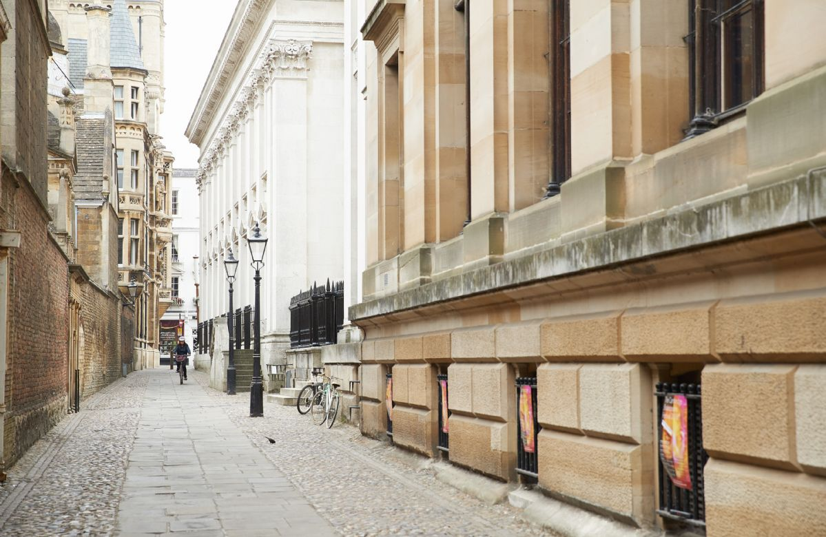 The historic streets of Cambridge