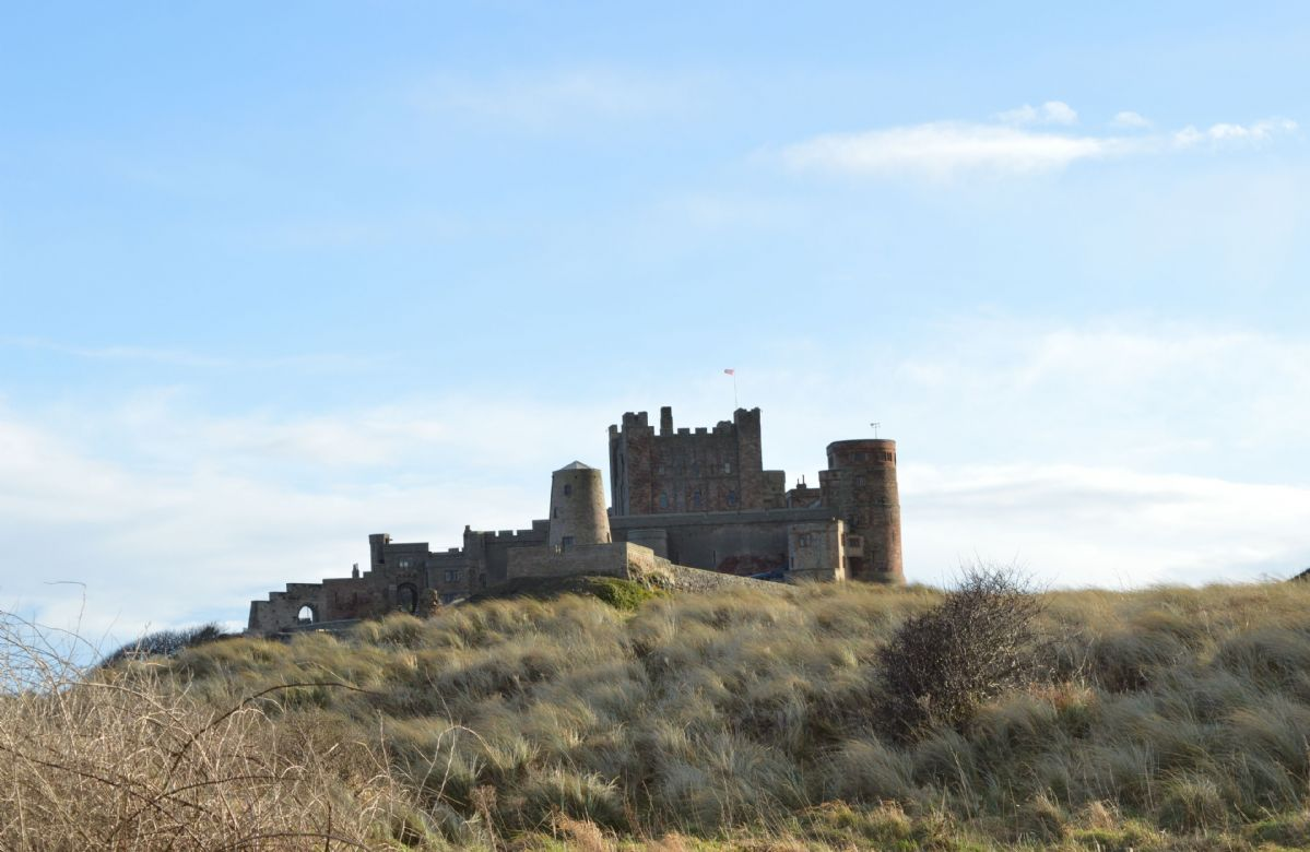 Bamburgh Castle is located 30 minutes drive away