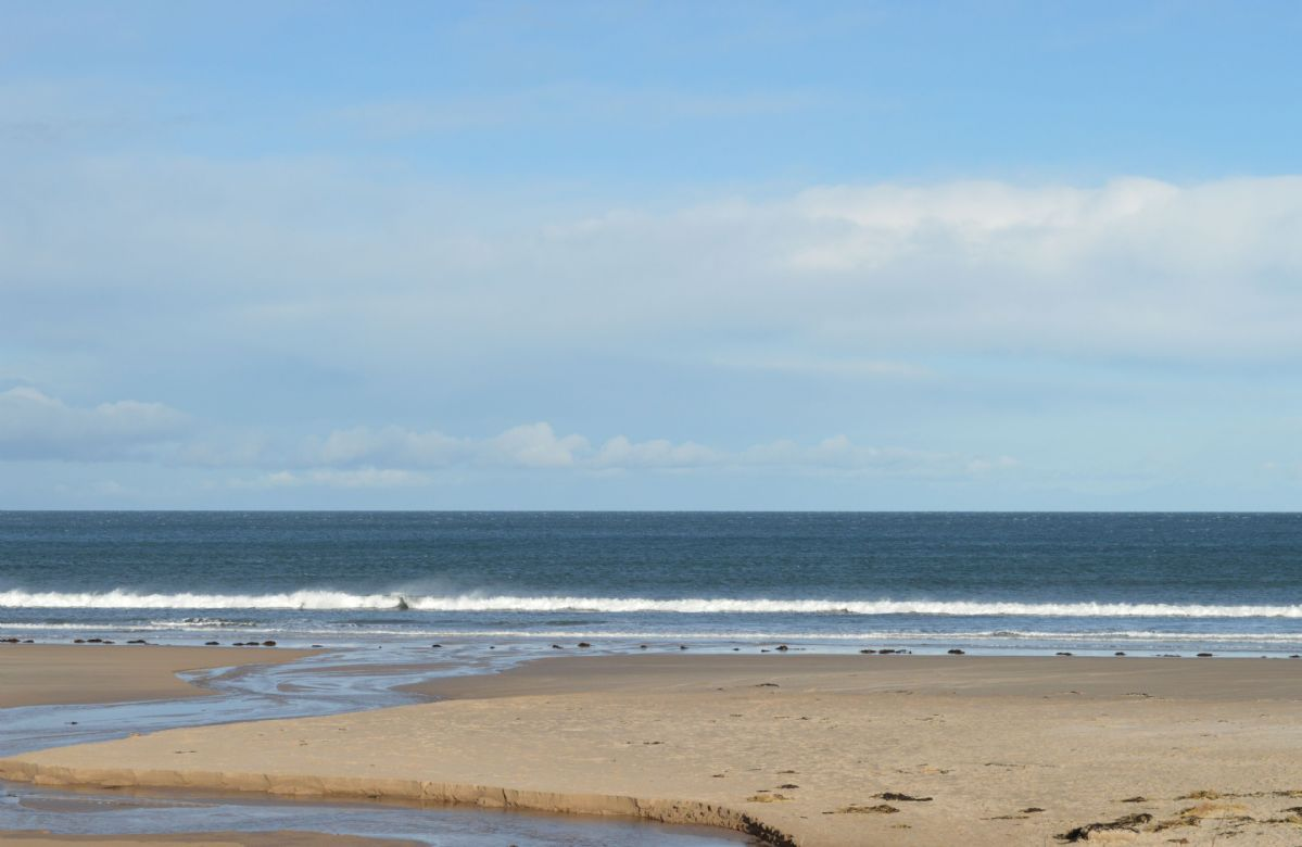 Bamburgh Beach is located 30 minutes drive away