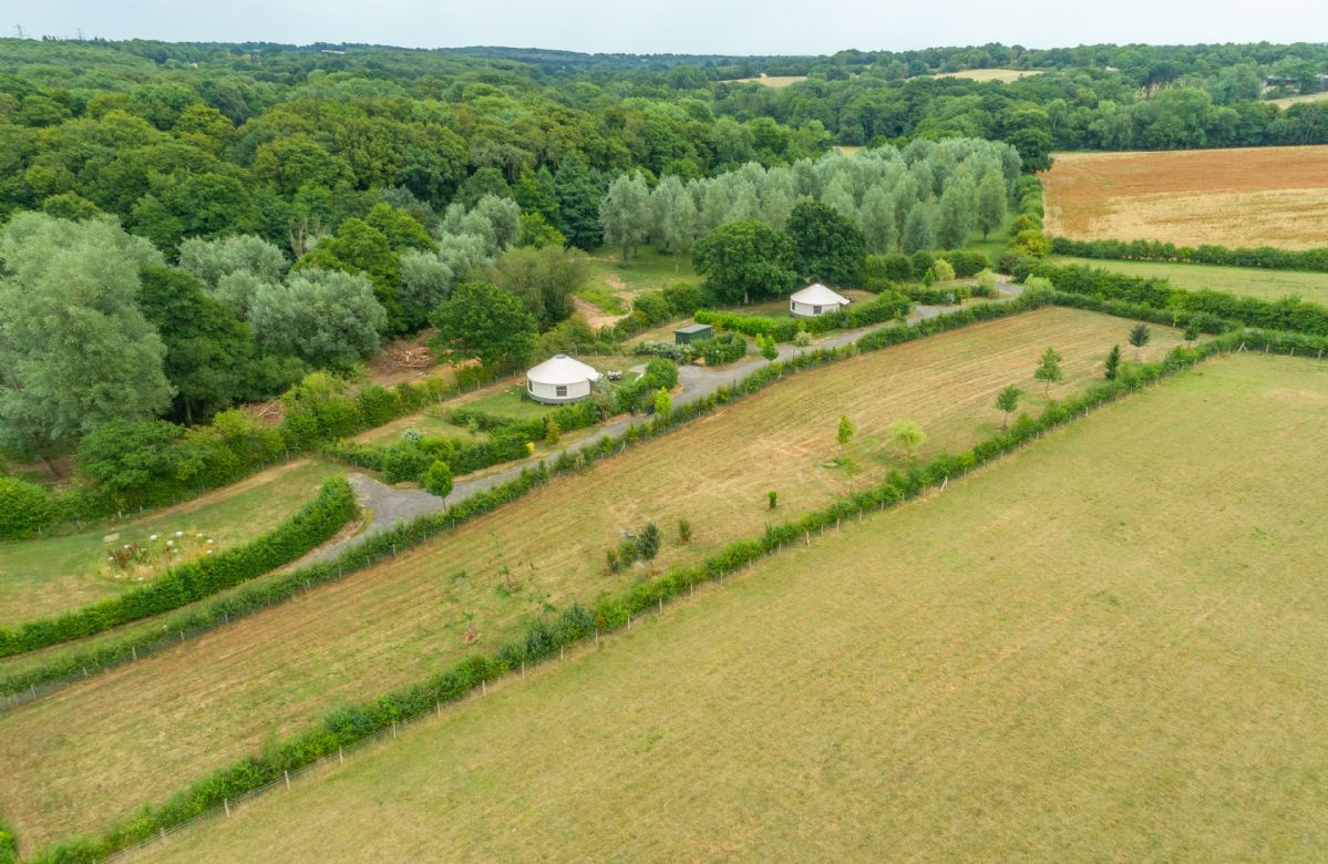 Ash Yurt and its sister's, Oak Yurt and Willow Yurt are set in a peaceful farmland location, each with their own private garden and hot tub