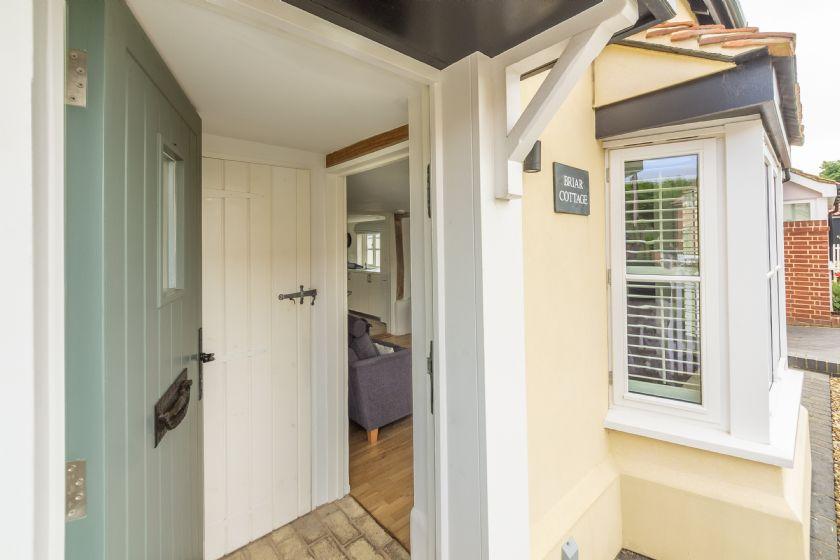 Front door to Briar Cottage