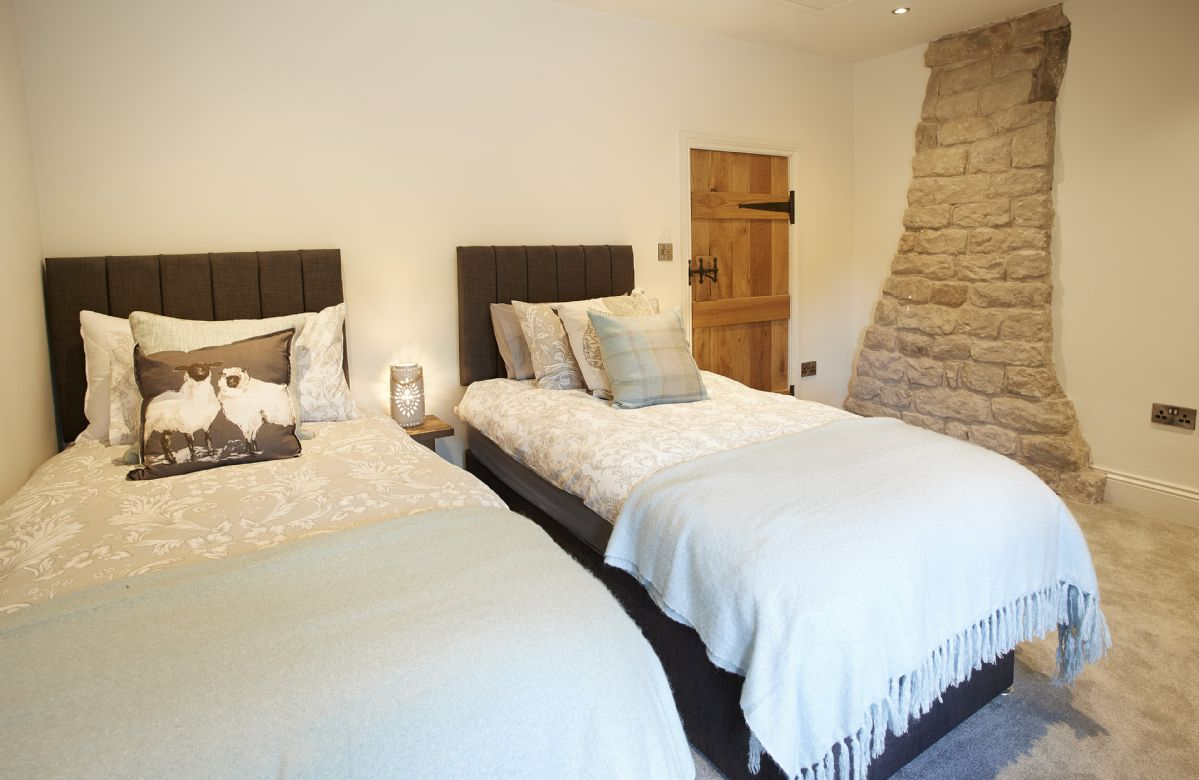 First floor: Bedroom with super king bed that can be configured as 3' twin beds on request