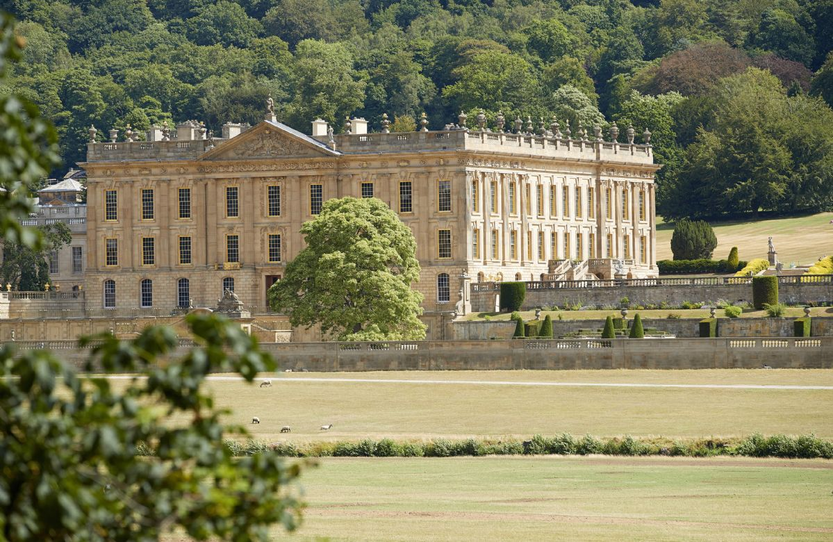 The grand stately home of Chatsworth House with its extensive parkland estate is a mere 15 minute walk away