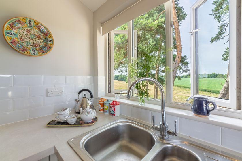 Ground floor: Stunning views from the kitchen window