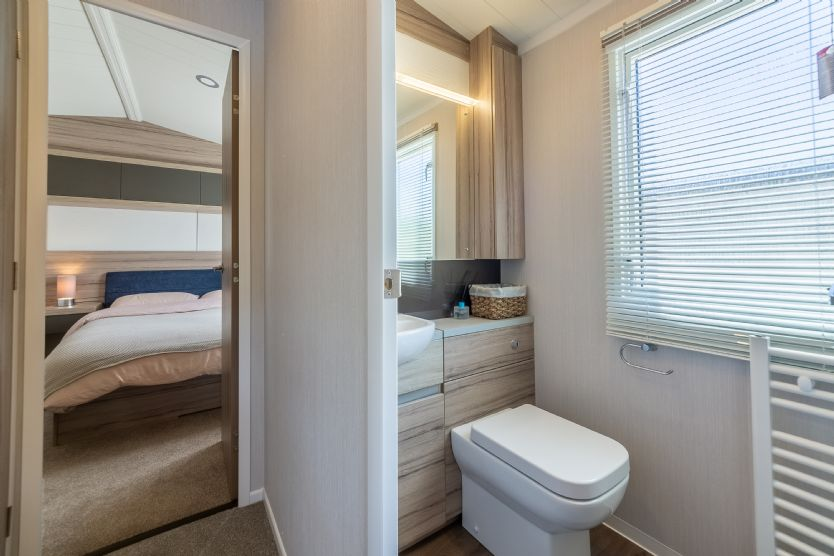 The second shower room services the twin bedrooms