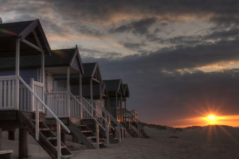 Wells beach and beach huts