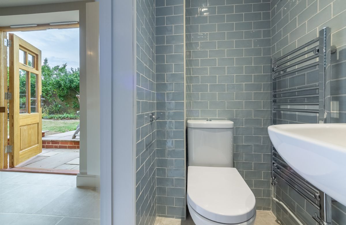 Ground floor: Wet room with WC and shower