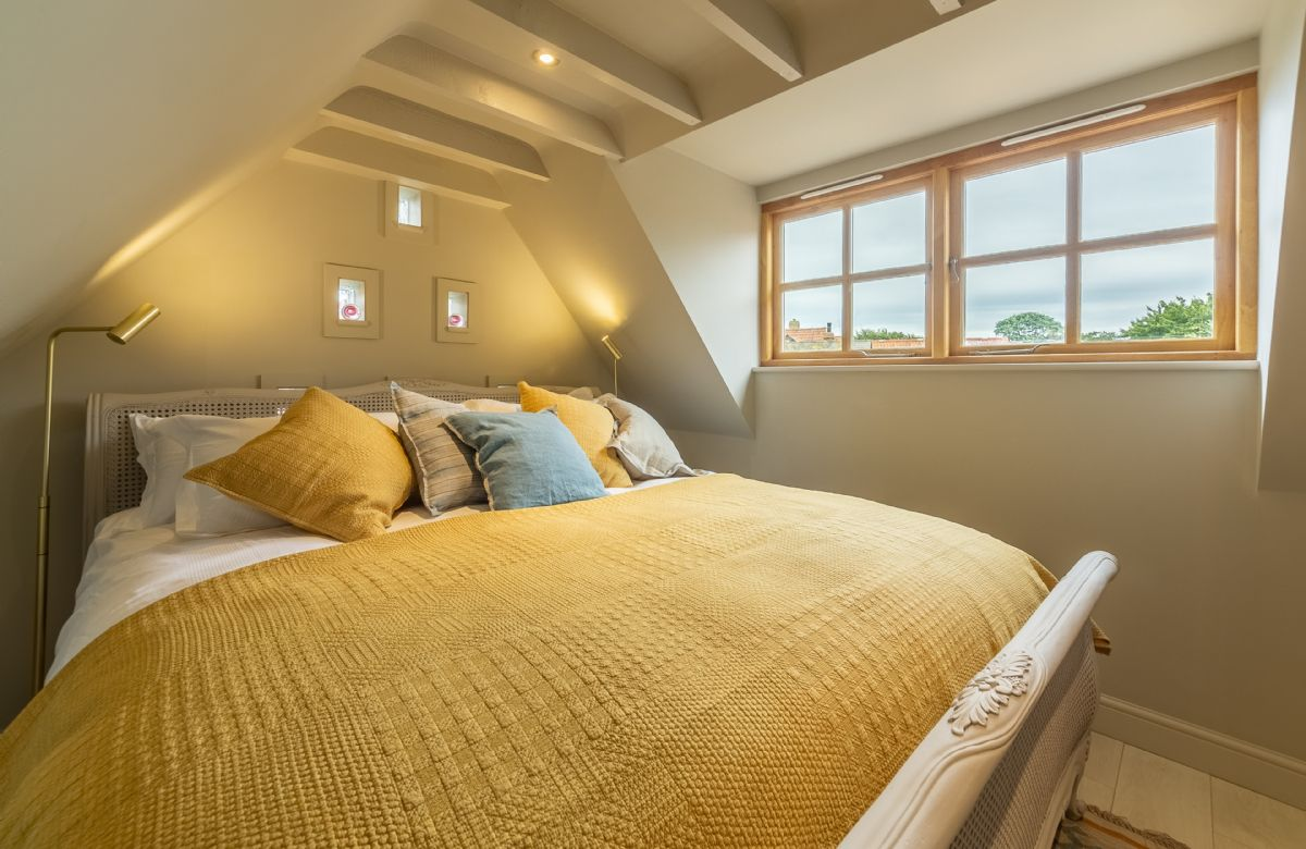 First floor: The master bedroom with a super king size bed