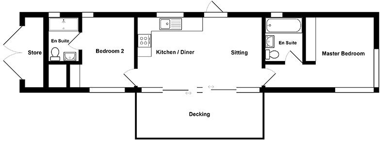 The watch houses floor plan