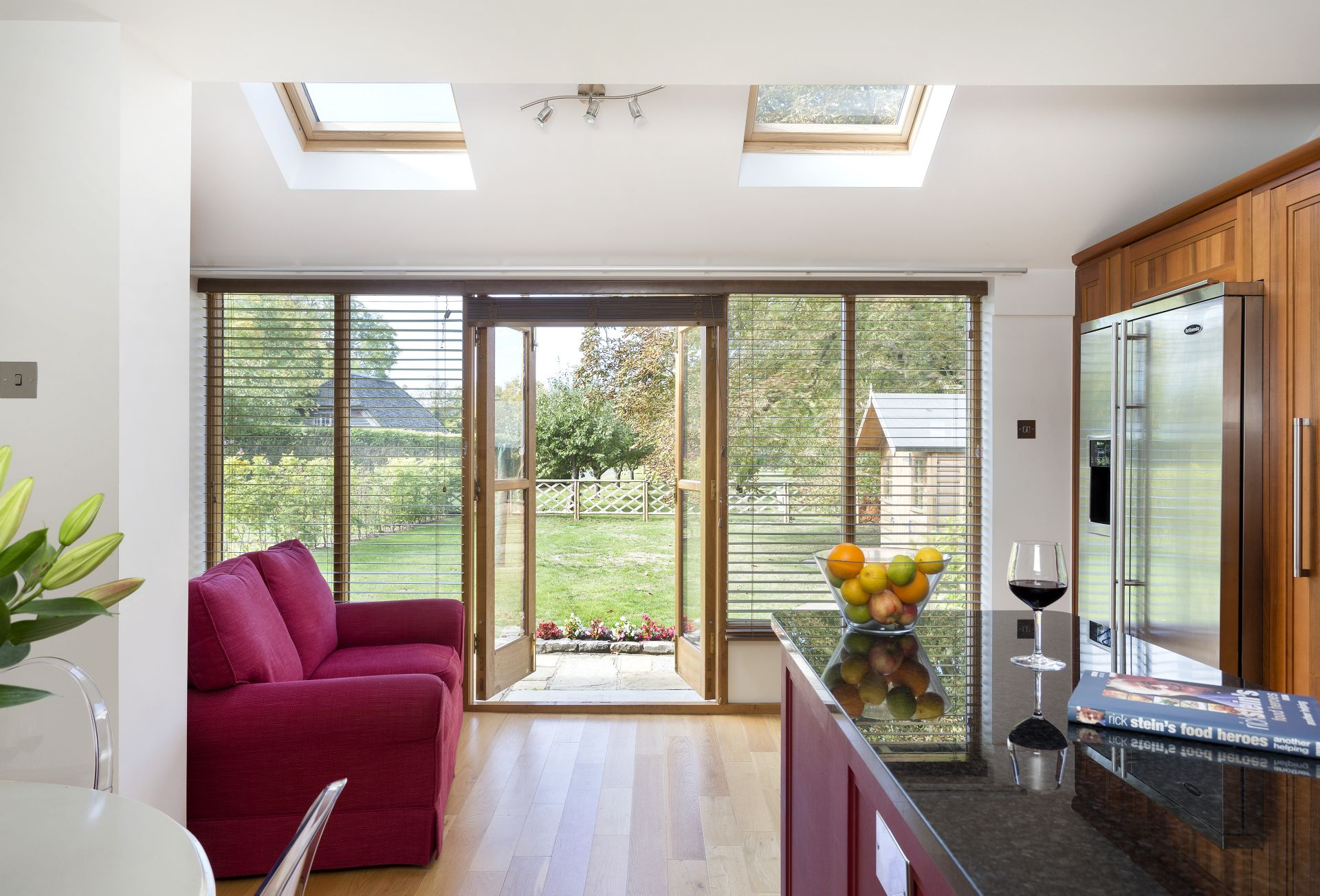 Ground floor: French doors lead out to the garden