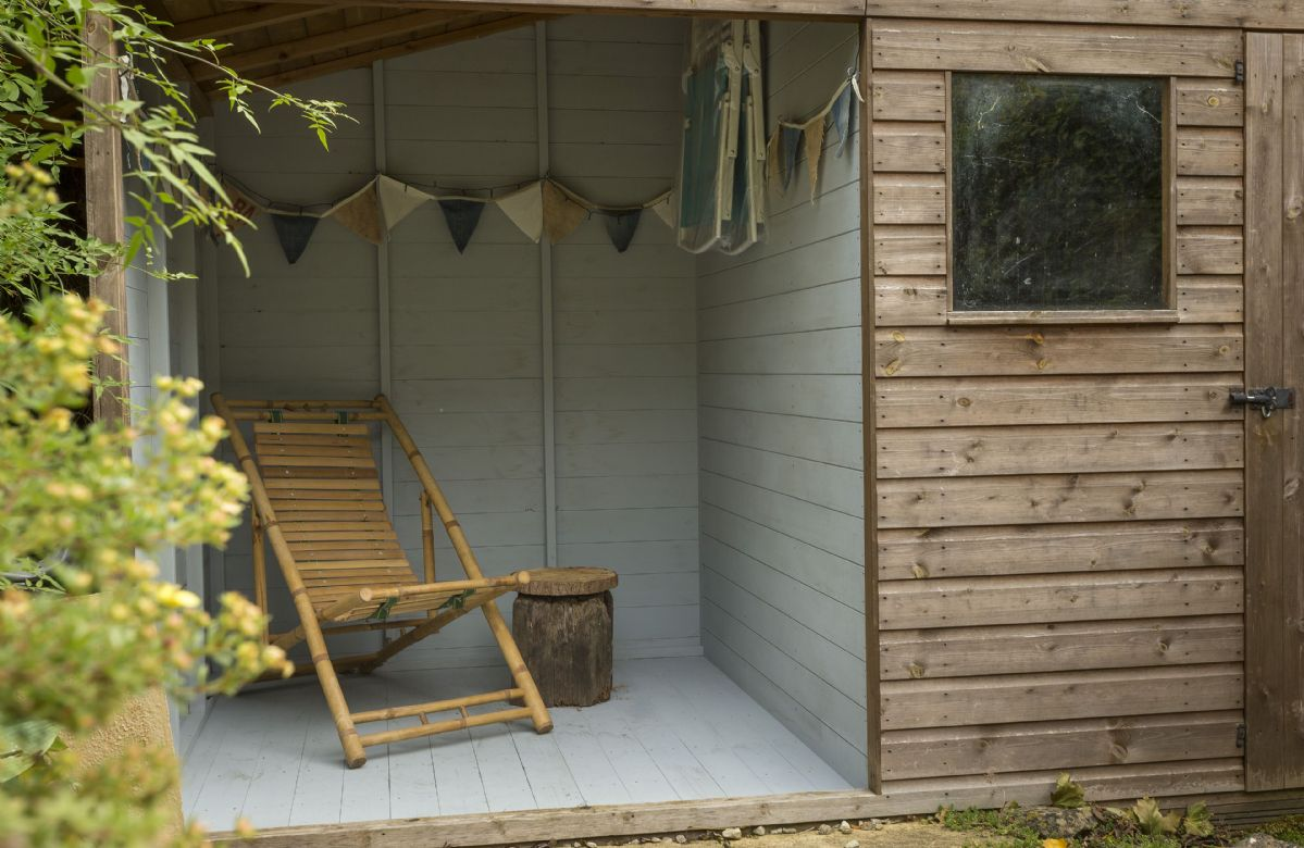 The enclosed cabin area with relaxed seating is perfect for whiling away a lazy afternoon