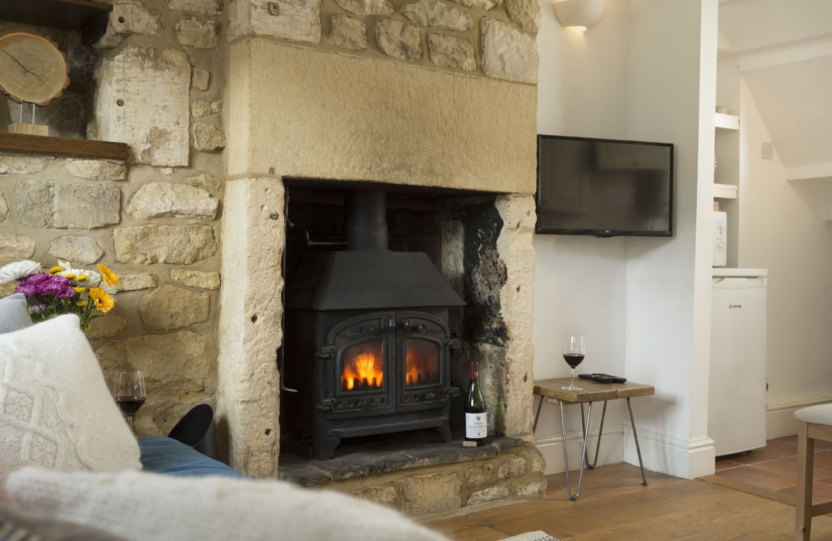 Ground floor: Traditional wood burner to enjoy during your stay