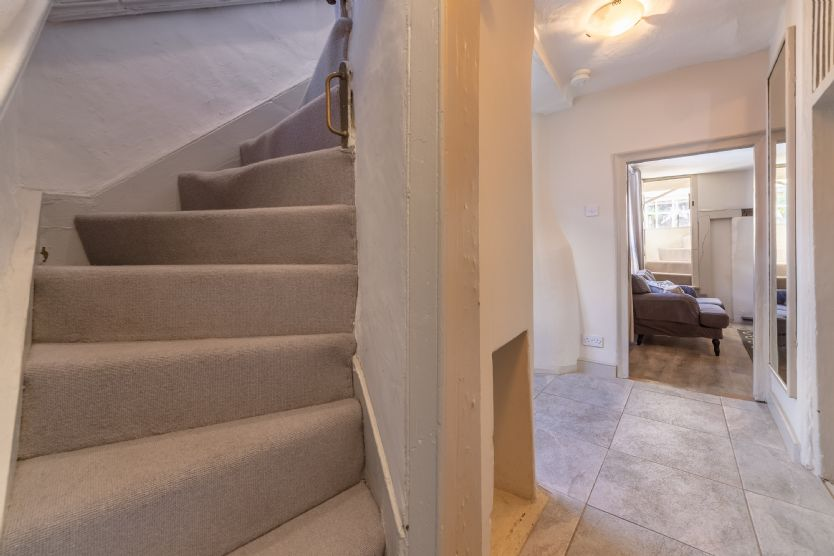 Steep Norfolk winder staircases to upper floors