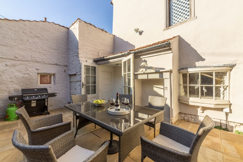 Ground floor: enjoy the sunshine and alfresco dining