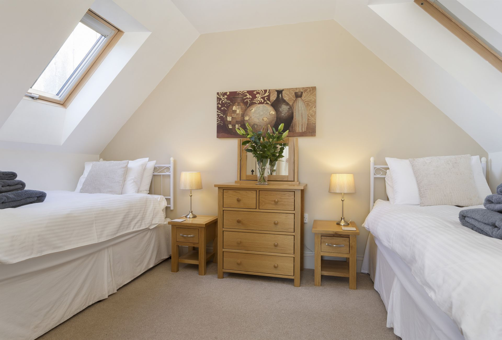 The Hayloft: Twin bedroom
