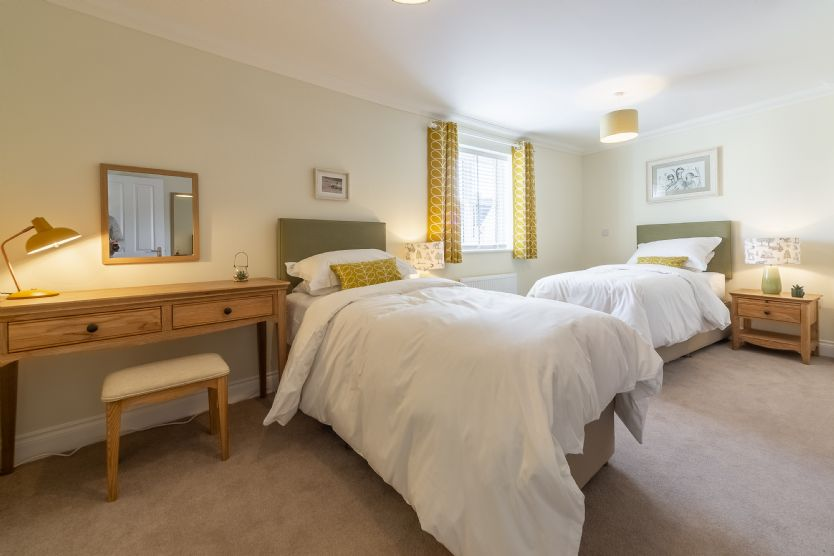 First floor: Bedroom two with twin beds, with super king option