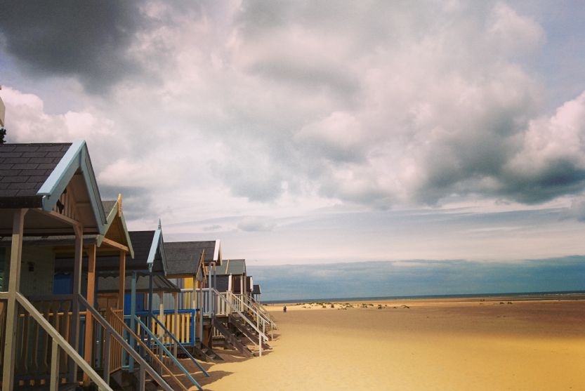 Wells-next-the-Sea beach with its iconic beach huts