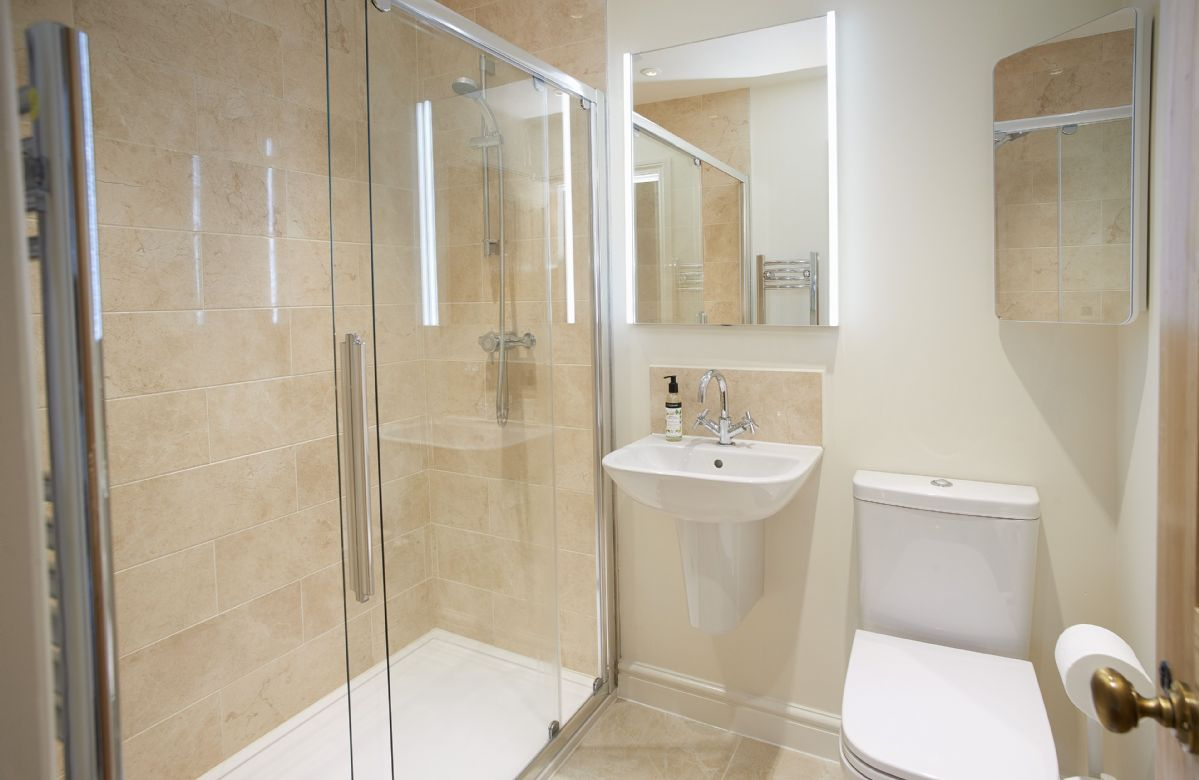 Second floor: Jack and Jill en-suite shower room with a walk in shower