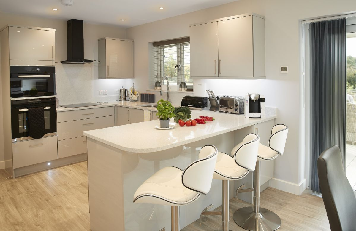 Ground floor: The stunning modern and fully fitted kitchen