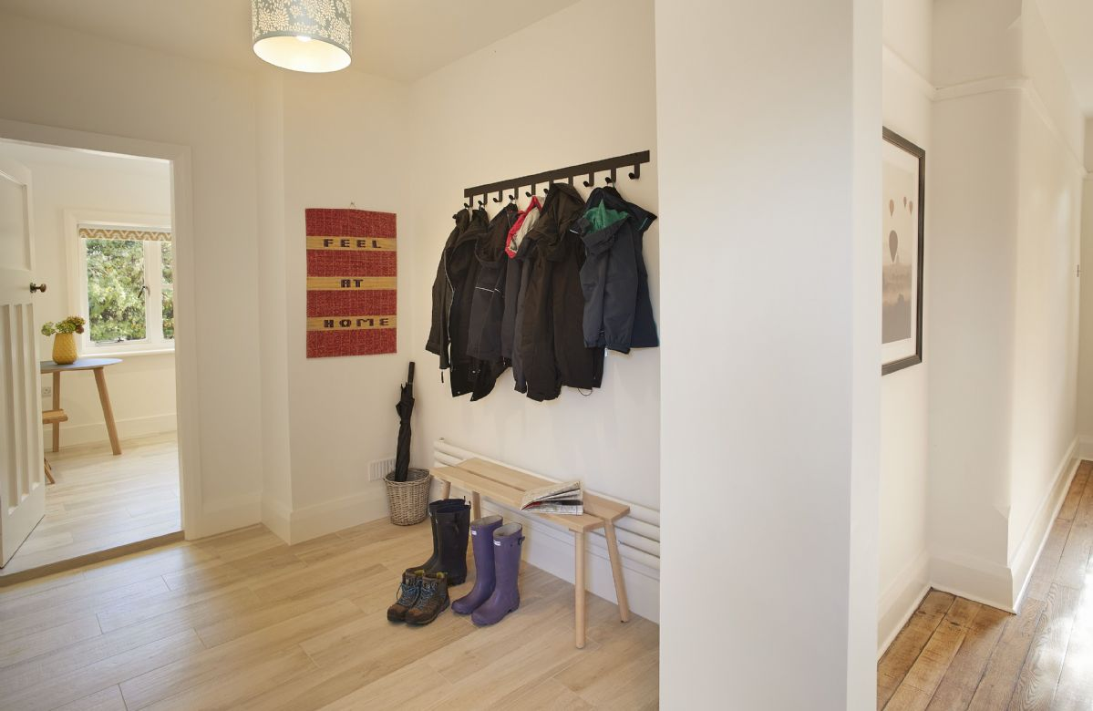 Ground floor: Hallway with ample room for coats and boots