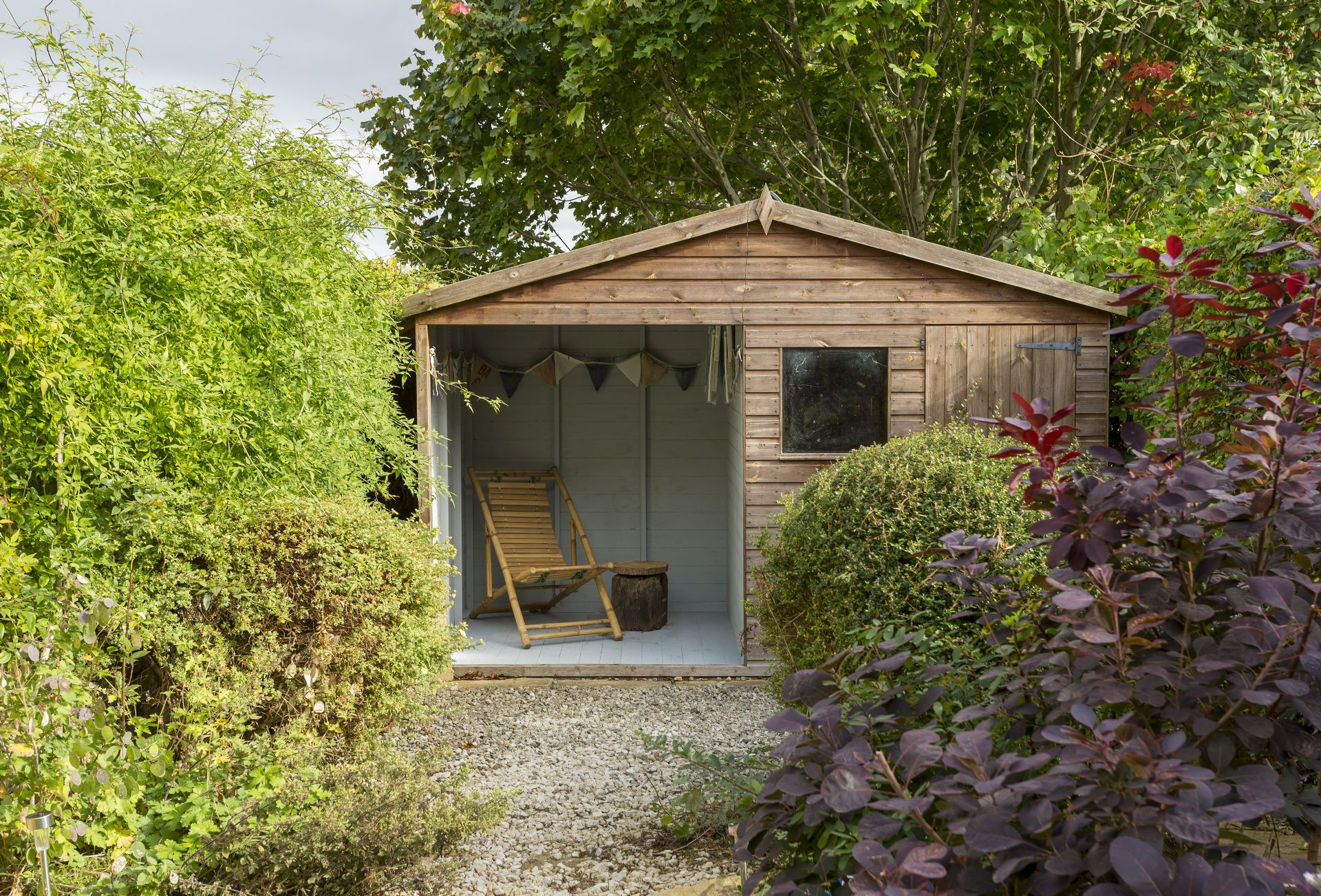 Garden: Shed with seating area