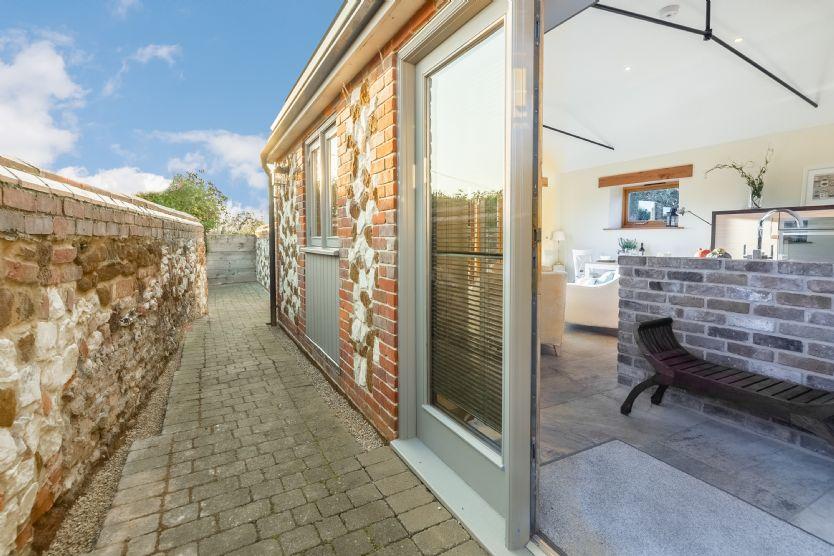 Ground floor: Entrance door to open plan living area