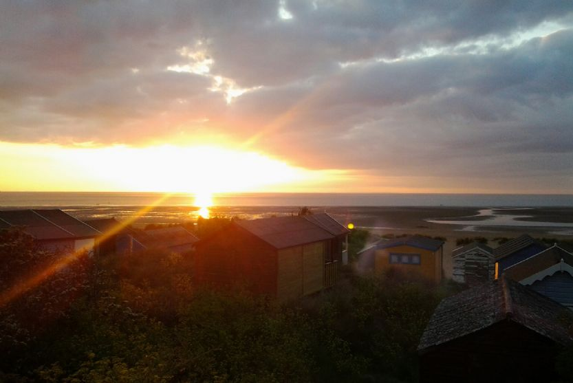 Local area: Sunset at Old Hunstanton beach, 2 miles from The Leveret
