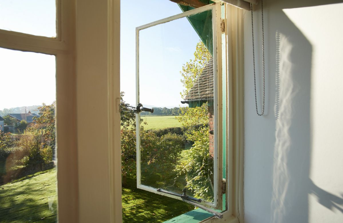 First floor: View of the lush countryside from your window