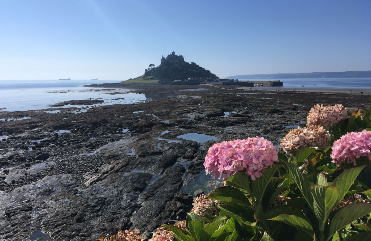 The small tidal island of St Michael's Mount in Mounts Bay