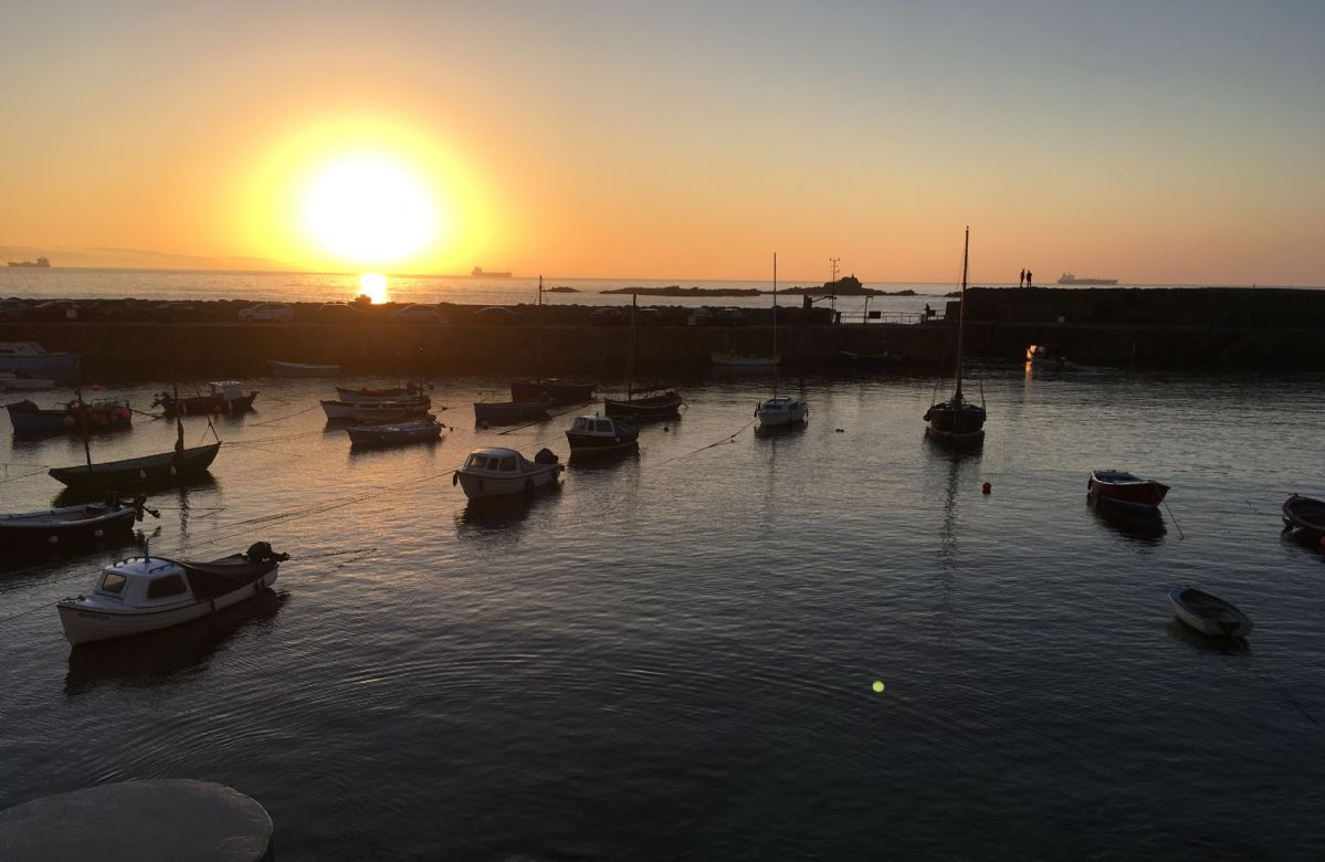 Sunset in Mousehole Harbour