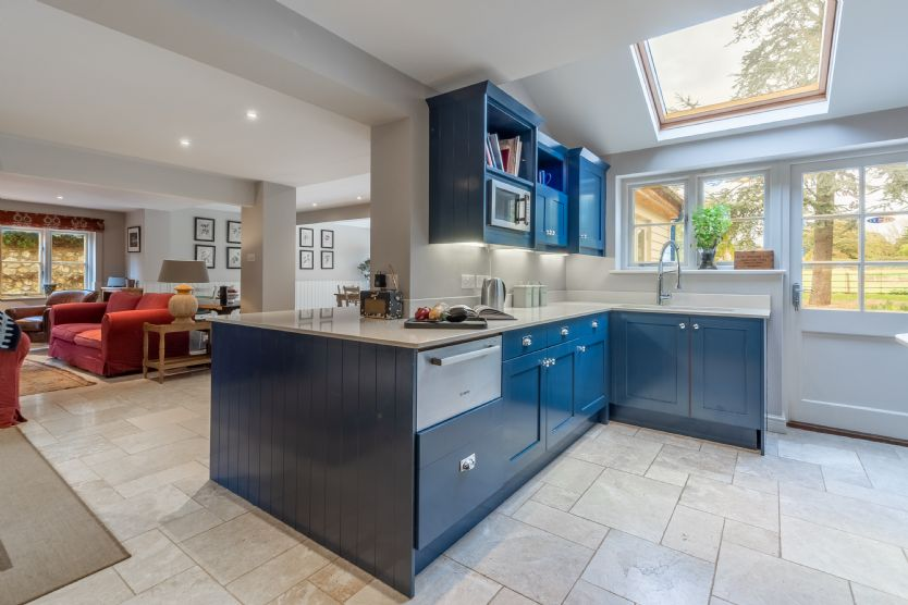 Ground floor: Kitchen opens up into the spacious living area