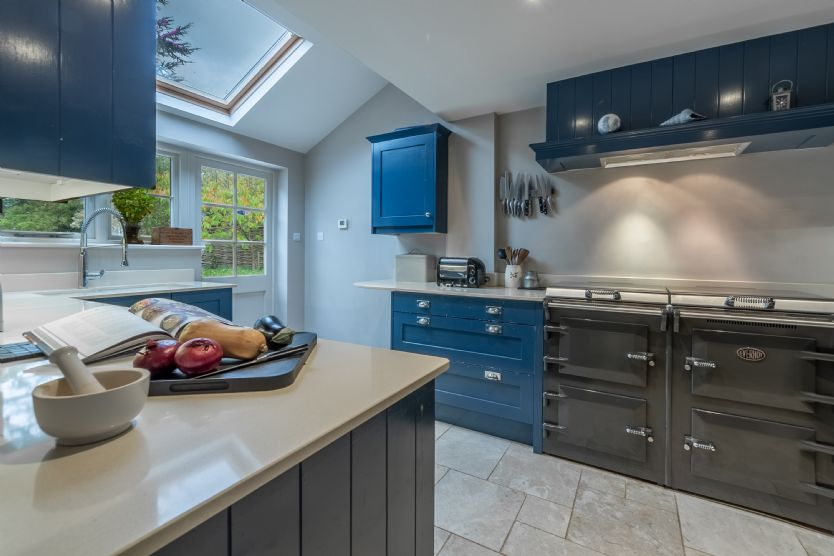 Ground floor: Kitchen is light and bright and well equipped